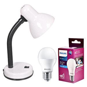 Pelsan Maya Masa Lambası Beyaz (Philips Beyaz Işık Ampul Dahil) buyuk 1
