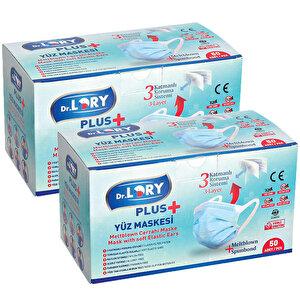 Dr. Lory Meltblown 3 Katlı Cerrahi Maske Geniş Lastikli 50'li Paket 2'incisi %50 İndirimli buyuk 1