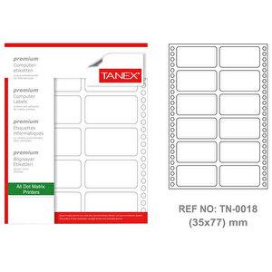 Tanex Tn-0018 Sürekli Form Etiketi 35 mm x 77 mm buyuk 1