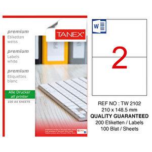 Tanex Tw-2102 Beyaz Sevkiyat ve Lojistik Etiketi 210 mm x 148.5 mm