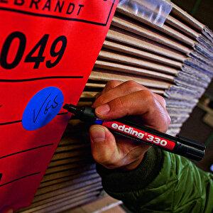 Edding 330 Marker Kalem Kesik Uçlu Siyah