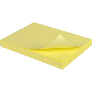3M Post-It 653 Sarı Not Kağıdı 38 mm x 51 mm 100 Yaprak 3'lü