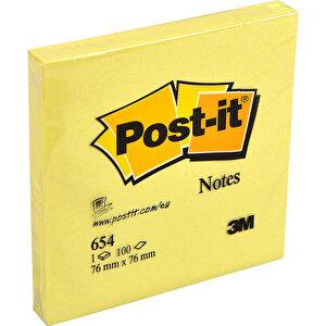 3M Post-it 654Y Yapışkanlı Not Kağıdı 76 mm x 76 mm Sarı 100 Yaprak