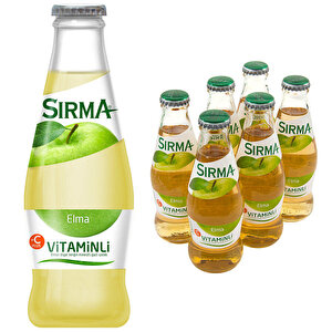 Sırma Vitaminli C-Plus Elma Maden Suyu 200 ml 6'lı Paket buyuk 1