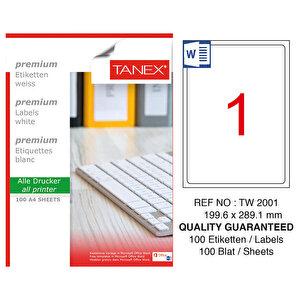 Tanex Tw-2001 Beyaz Etiket 199.6 mm x 289.1 mm buyuk 1