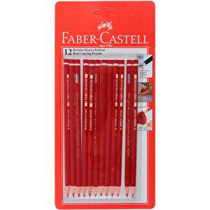 Faber Castell 1410 Kopyalama Kalemi Kırmızı 12'li Paket buyuk 4