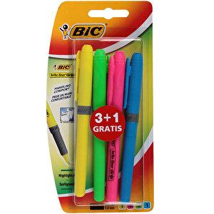Bic Brite Liner Fosforlu Kalem Karışık Renkli 4'lü Paket buyuk 4