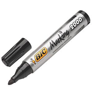 Bic 2000 Marker Kalem Yuvarlak Uç Siyah buyuk 3