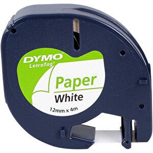 Dymo Letratag Kağıt Etiket 12 mm x 4 m Beyaz
