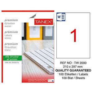 Tanex Tw-2000 Sevkiyat ve Lojistik Etiketi 210 mm x 297 mm buyuk 1