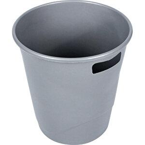 Ark 1050 Plastik Deliksiz Çöp Kovası Gri  9.5 lt buyuk 1