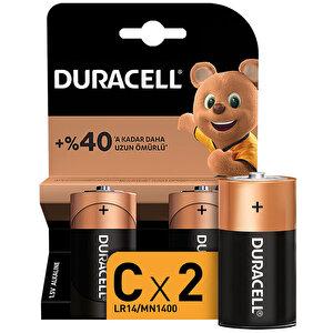 Duracell Alkalin C Orta Boy Pil 2' li Paket buyuk 1