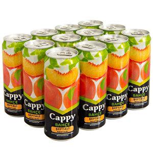 Cappy Meyve Suyu Şeftali Teneke Kutu 330 ml 12'li Paket buyuk 3