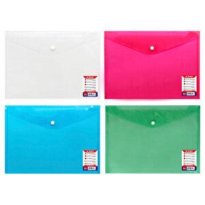 Globox A4 Çıtçıtlı Evrak Dosyası Karışık Renklerde 12'li Paket buyuk 1