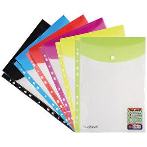 Globox A4 Üstten Kapalı Çıtçıtlı Şeffaf Dosya 12'li Paket