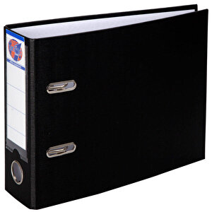 Worldone Telgraf Klasör Geniş A5 Siyah 5'li Paket buyuk 1
