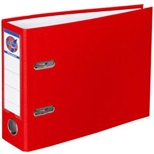 Worldone Telgraf Klasör Geniş A5 Kırmızı 5'li Paket buyuk 1