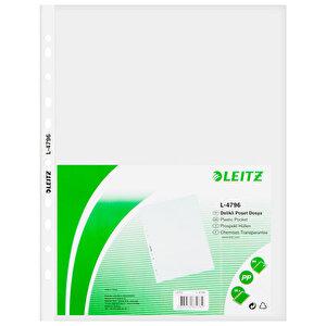 Leitz 4796 A4 Delikli Şeffaf Poşet Dosya 25'li Paket