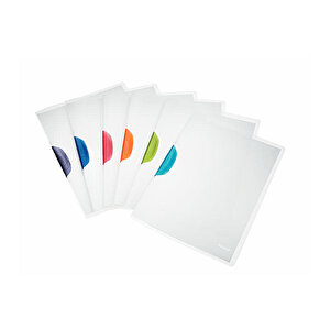 Leitz A4 Color Clip Magic Sıkıştırmalı Dosya Koyu Gri buyuk 5