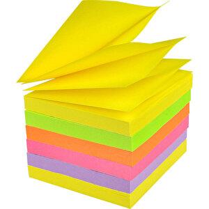 Post-it Yapışkanlı Not Kağıdı Z 76 mm x 76 mm Neon Renkler 100 Yaprak 6'lı Paket buyuk 2