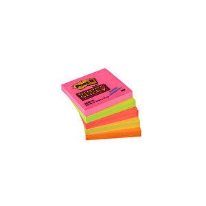 3M Post-it 654 SN 5 Neon Renk Süper Yapışkanlı Not Kağıdı 76 mm x 76 mm 450 Yaprak buyuk 4