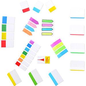 3M Post-it 670 Yapışkanlı Not Kağıdı 15 mm x 50 mm Sayfa İşareti 5 Renk 100 Yaprak