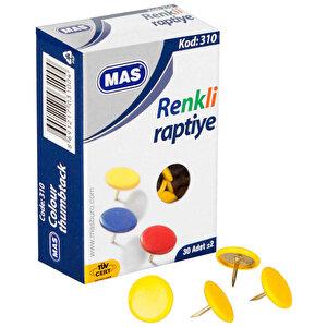 Mas 310 Raptiye Pvc Kaplı Karışık Renkli 30'lu Kutu buyuk 1