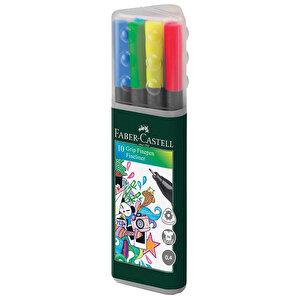 Faber Castell Grip Finepen 0.4 mm Keçeli Kalem Plastik Karışık Renkli 10'lu Paket buyuk 5