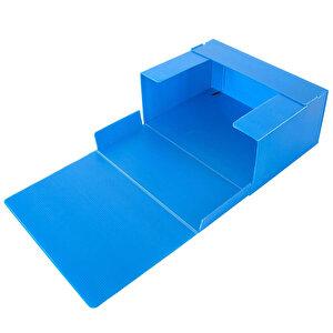 Üçgen Arşivleme Kutusu 1000 Sayfa Kapasiteli 13 cm x 22 cm x 31 cm Mavi