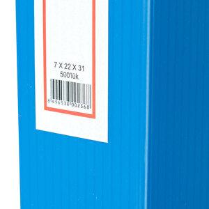 Üçgen Arşivleme Kutusu 500 Sayfa Kapasiteli 22 cm x 31 cm x 7 cm Mavi