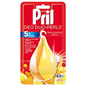 Pril Deo Perls Bulaşık Makinası Koku Giderici Limon Üçlü Güç 60 Yıkama buyuk 1