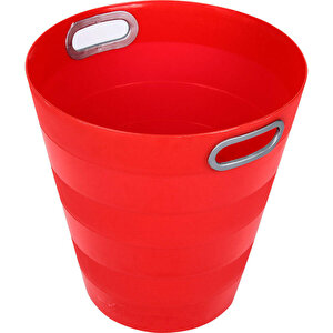 Ark 1051 Plastik Deliksiz Çöp Kovası Kırmızı 12.5 lt buyuk 1