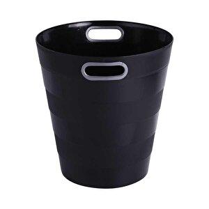 Ark 1051 Plastik Deliksiz Çöp Kovası Siyah 12.5 lt