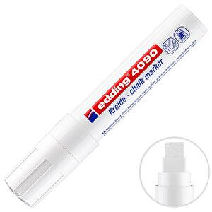 Edding E 4090 Likit Tebeşir Kalemi Kesik Uçlu Beyaz buyuk 1