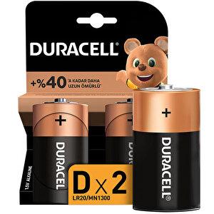 Duracell Alkalin D Büyük Boy Pil 2'li Paket buyuk 1