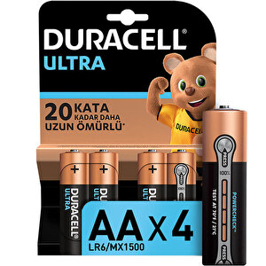 Duracell Ultra Alkalin AA Kalem Piller, 4'lü paket buyuk 1