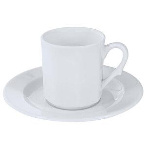 Güral Köşeli Türk Kahve Takımı Dekorsuz 12'li Paket buyuk 1
