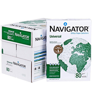 Navigator A4 Fotokopi Kağıdı 80 gr/m² 1 Koli (5 Paket)