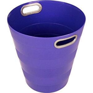 Ark 1051 Plastik Deliksiz Çöp Kovası Mor 12.5 lt buyuk 1