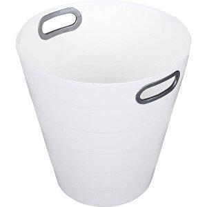 Ark 1051 Plastik Deliksiz Çöp Kovası Beyaz 12.5 lt