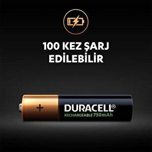 Duracell Şarj Edilebilir AAA 750mAh Piller, 2'li paket buyuk 4