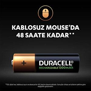 Duracell Şarj Edilebilir AA 1300mAh Piller, 2'li paket buyuk 5