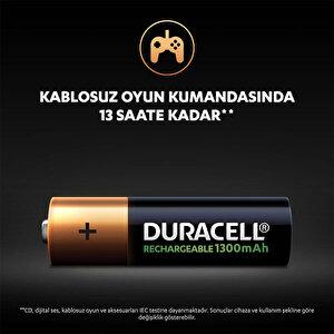 Duracell Şarj Edilebilir AA 1300mAh Piller, 2'li paket buyuk 6