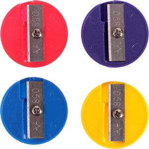 Ark 1366 Kalemtıraş Yuvarlak Karışık Renk 12'li Paket buyuk 3
