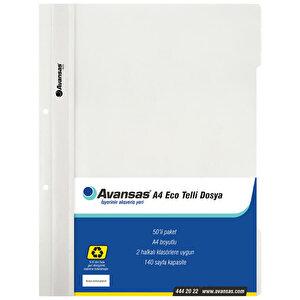 Avansas Eco Telli Dosya Beyaz 50'li Paket buyuk 1