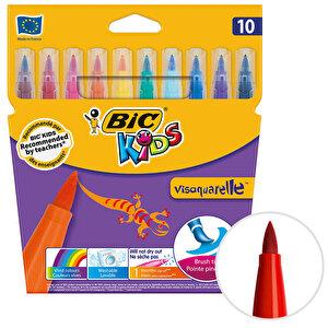 Bic Kids Visa 828964 Fırça Uçlu Keçeli Boya Kalemi 10'lu Paket buyuk 1