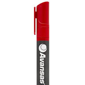 Avansas 907 Marker Kalem Yuvarlak Uçlu Kırmızı