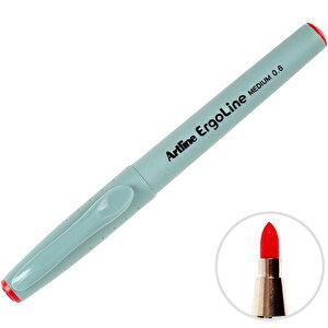 Artline 3600 Ergoline İmza Kalemi 0.6 mm Medium Uç Kırmızı buyuk 1