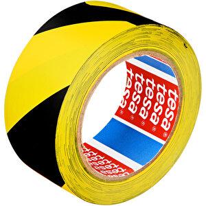 Tesa 60760 Yer İşaretleme İkaz Bandı 50 mm x 33 m Sarı / Siyah Çizgili buyuk 1