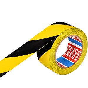 Tesa 60760 Yer İşaretleme İkaz Bandı 50 mm x 33 m Sarı / Siyah Çizgili buyuk 2